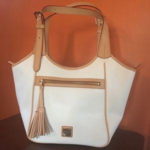 Authentic Dooney & Bourke White Leather